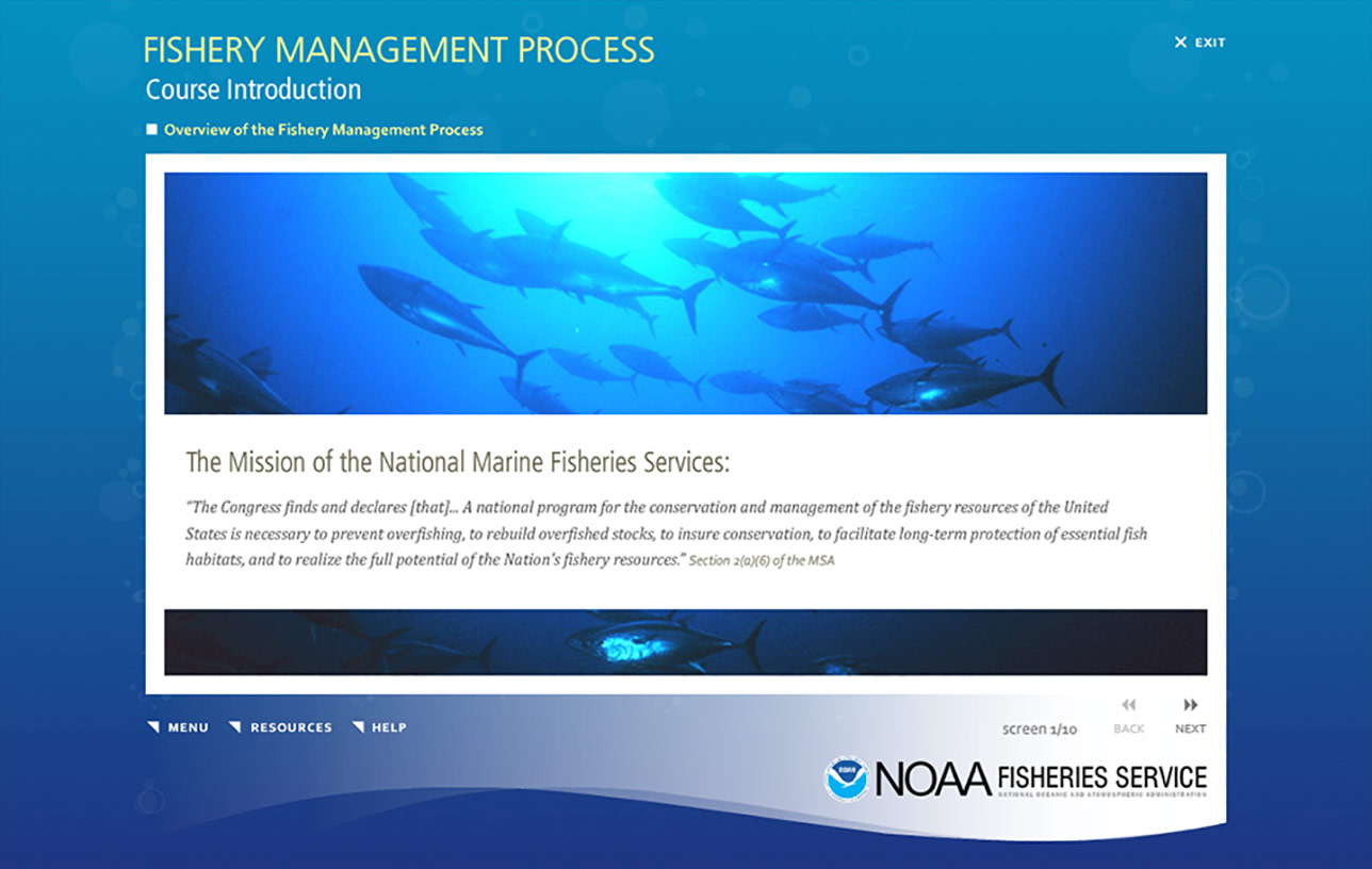 NOAA Fishery Management Process (e-Learning) Image 02