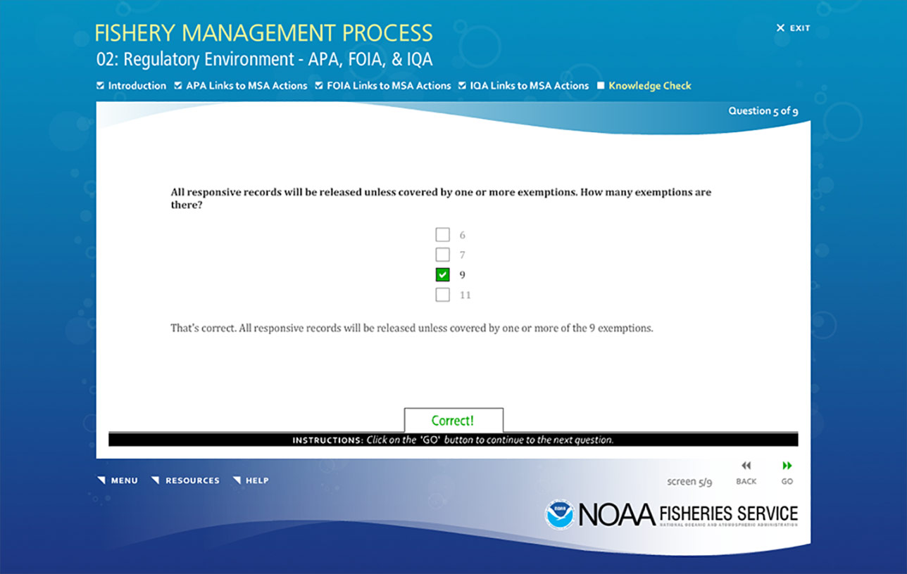 NOAA Fishery Management Process (e-Learning) Image 06