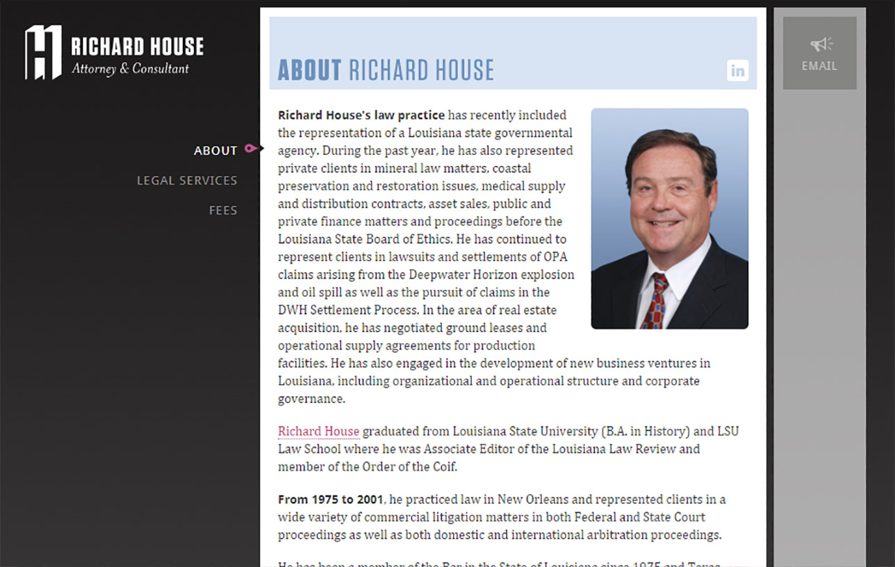 Richard House, Attorney & Consultant Image 01