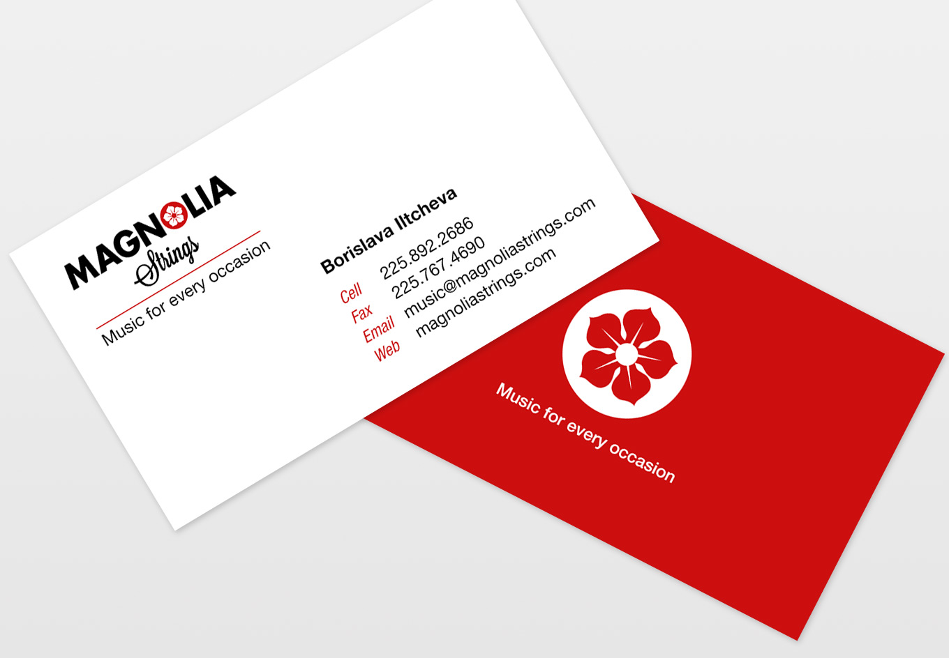 Magnolia Strings Business Card